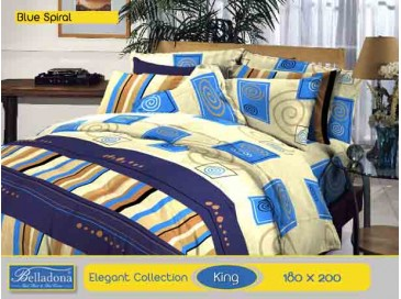 Bedcover Blue Spiral (King 180x200)