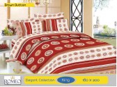Bedcover Romeo Brown Button (King 180x200)