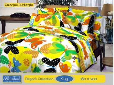 Bedcover Colorfull Butterfly (King 180x200)