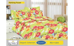 Bedcover Romeo Painting Flower (Queen 160x200)