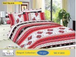 Bedcover Romeo Red Square (Single 120x200)
