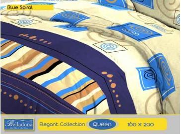 Sprei Blue Spiral (Queen 160x200)